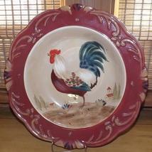 Certified Internat'l Pamela Gladding Tuscan Rooster Pattern Spaghetti/Chili Bowl - $24.49
