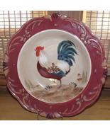 Certified Internat'l Pamela Gladding Tuscan Rooster Pattern Spaghetti/Ch... - $24.49