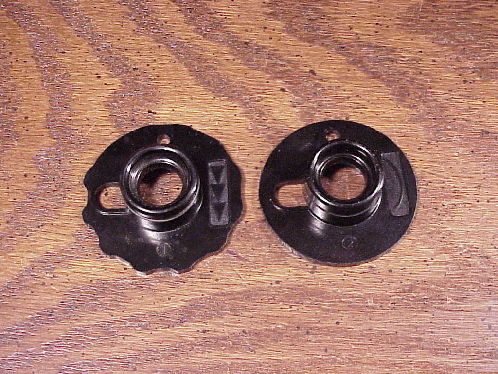 Lot of 6 Black Singer Fashion Discs Cams, numbers 1, 2, 3, 4, 5 and 12
