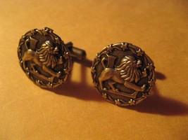Zodiac Sign Horoscope Leo Lion July August Birthday Vintage Cufflinks Cu... - $24.74