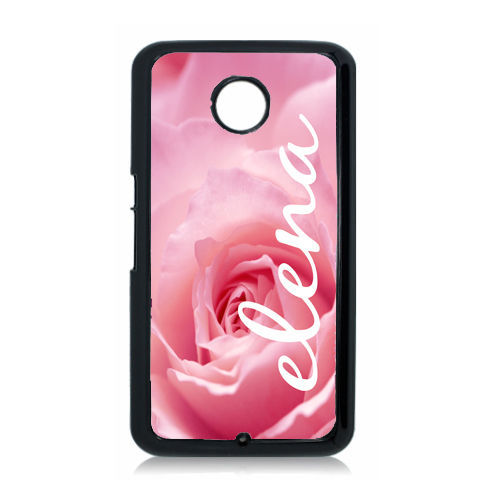 PERSONALIZED GOOGLE NEXUS 6 CASE HARD COVER PINK ROSE