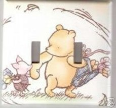 Double Light Switchplate Cover Classic Winnie Pooh crea - $8.75