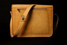 Mens Satchel Brown Leather Messenger Bag Laptop Shoulder Crossbody Briefcase image 7
