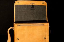 Mens Satchel Brown Leather Messenger Bag Laptop Shoulder Crossbody Briefcase image 8