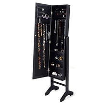 Giantex Jewelry Cabinet Mirrored Armoire Mirror Organizer Storage Box Ri... - $174.97