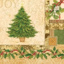 32 pcs Christmas Tree Collage 3-Ply Party Beverage Napkins - $7.62