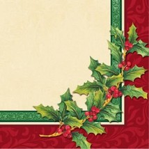 32 Pcs Creative Converting Beverage Napkins 2 Ply Festive Greenery - $4.94