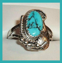 Sterling Silver Oval Shaped Natural Arizona Turquoise Ring - $59.99