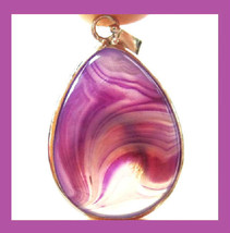 Purple Gemstone Pear Shaped Sterling Silver Pendant - $29.99
