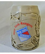 Vintage New York Rangers Ceramic Beer Mug Stein 3-D Raised Details - $29.99