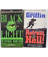 Lot of 2 Audio Book Military Stories on Cassette by Hunter and Griffin - $9.40
