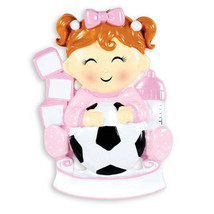 Child Future Soccer Star Girl Personalized Christmas Tree Ornament - $14.95