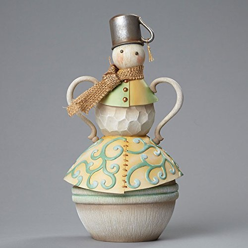 River's End Snowman with Tin Cup Hat, Figurine [Kitchen]
