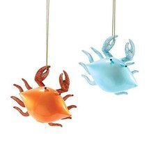 Department56 Gone TO The Beach - Glass Crab Orn Asst/2