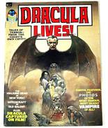 DRACULA LIVES!# 1 1973 B&W Mag Boris Vallejo Painted Cover ORIG OWNER: 9... - $125.00