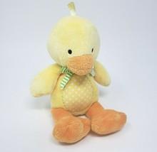 """8 """" Carter's Bébé Jaune Orange à Pois Canard #91050 Animal en Peluche Jouet - $36.29"""
