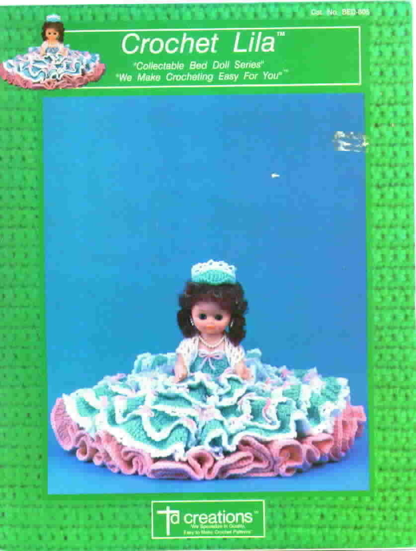 TD Creations Crochet Lila Bed Doll