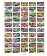 Scott #3610a Sheet of fifty 34cent Greetings Fr... - £10.86 GBP