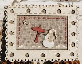 Snowman Pattern - Buttons - Frame wooden The Bee Company  - $9.00