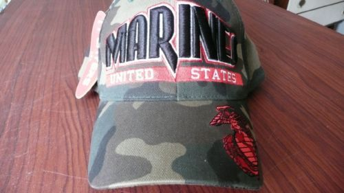 99a77dd7048 US Marine Corps Hat Velcro Adjust Embroidered Players Brand New W Tags  Excellent