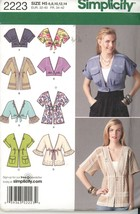 Simplicity 2223 Misses Jacket - 2 lengths - Many Variations - Size 6-14 ... - $2.00