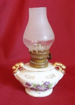 Ceramic Kerosene Lamp Non Functional Miniature Ornamental ESD Japan Hand... - $3.99