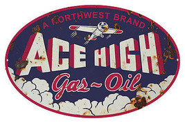 Oval Reproduction Northwest Ace High Gas Motor ... - $24.75