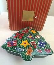 "MIKASA HOLIDAY MOTIF 6"" TREE SHAPED DISH WITH COVER~BOX INCLUDED~NICE! - $7.50"
