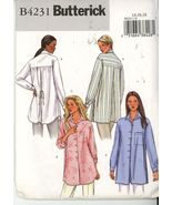 Butterick 4231 Misses Shirt - Size 14-16-18 UNCUT  - $8.00