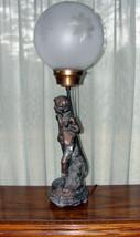 SOLD - SOLD - SOLD - - Vintage Spelter Victorian Art Nouveau Figural Lamp - $158.40