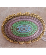 Rare Vintage Freirich Signed Brooch Pin Multi Colored - $34.99