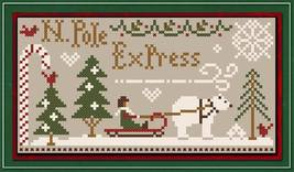 North Pole Express Freebie with floss bundle (5 skeins) Classic Colorworks  - $12.00