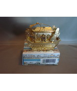 NOAH'S ARK Gold-toned Thinly Pressed Metal Christmas Ornament - $4.99