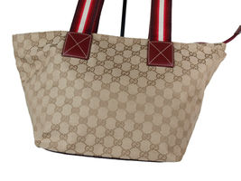 Auth GUCCI GG Pattern Canvas Leather Browns Shoulder Bag GS2060 image 3