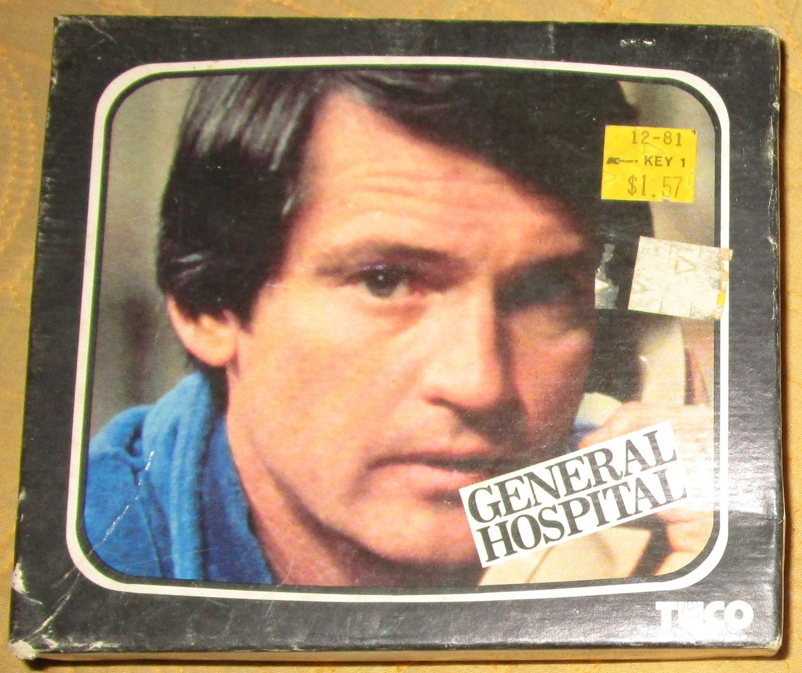 VINTAGE 1970`S SOAP OPERA RICK WEBBER GENERAL HOSPITAL PUZZLE SEALED BOX TUCO