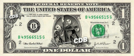 Nightmare Before Christmas On Real Dollar Bill Cash Money Bank Note Disney - $4.44