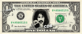 FRANK ZAPPA on REAL Dollar Bill Cash Money Bank Note Currency Celebrity Dinero - $4.44