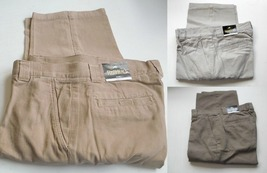 Men's Casual Pants with 6 pockets Khaki, Stone Olive Green 42x30 42x32 4... - $21.95