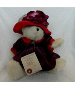 "Off White 10"" Boyds bear in purple & red outfit ""Ms. Rouge Chapeau"" styl... - $12.50"