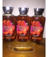 Set of 3 Bath & Body Works WILD MADAGASCAR VANILLA Shower Gel Body Wash 10 oz - $26.09