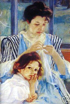 Young Mother by Mary Cassatt - $40.00