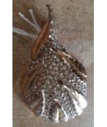 Vintage 1940's Signed Reja ORGANIC PEAR DIAMONTE Leaf Rhinestone Brooch ... - $49.99