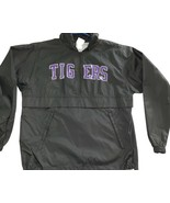 LSU Tigers Auburn Champion 1/4 Zip Pullover Small Purple Black Mint Nylon - $14.25