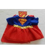 NEW Build A Bear Clothes Supergirl Girl's Superman Costume Attached Cape... - $39.99