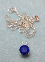 pretty lapis lazuli pendant and chain in .925 sterling silver - $49.95