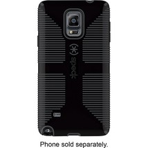 Speck - Candyshell Grip Case for Samsung Galaxy Note 4 Cell Phones - Black/Gray - $18.99