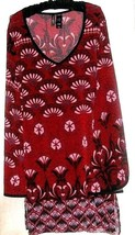 WOMEN'S RED PRINTED KNEE DRESS SIZE L - $11.00