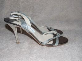 Jimmy Choo GLITTER Holiday Strappy Open Toe Heels 38.5 For Women Used - $178.19