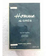 Homme de Gres Mens Eau De Toilette Natural Spray 2.53 oz 75ml SEALED - $57.33