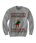 DRAKE UGLY CHRISTMAS SWEATER SLEIGH BELLS RING SWEATER LADIES MENS CHEAP... - $24.75
